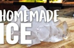 HOW TO MAKE HOMEMADE ICE