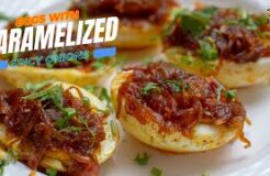 15-Minutes Boiled Egg Recipe EGGS WITH CARAMELIZED ONIONS Best Side Dish Recipe