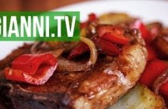 Pork Chops with Peppers, Onions & Potatoes, Italian recipe - Gianni