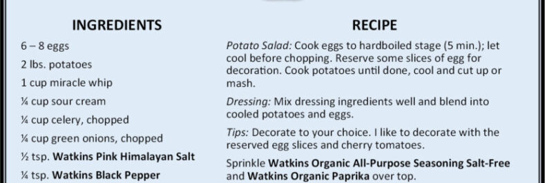 Watkins Potato Salad Recipe