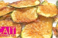Garlic Parmesan Zucchini Crisps Recipe | Cait Straight Up
